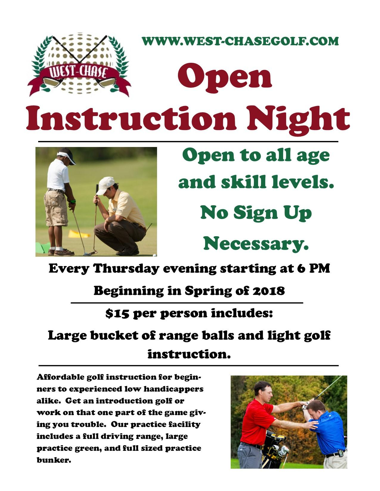 Thursday Instruction Flyer